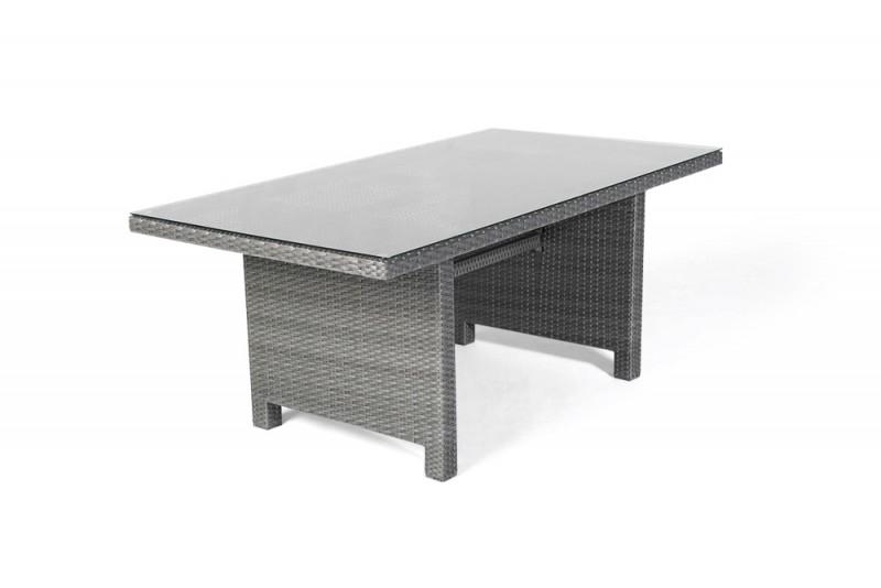 gartenm bel gartentische gartenst hle rattan tisch mississippi 170cm mix grau. Black Bedroom Furniture Sets. Home Design Ideas