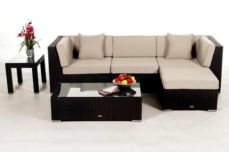 Rattan lounge schwarz  Edle Loungemöbel für Garten oder Balkon in schwarz