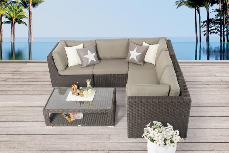 Jolie Gartenmöbel Rattan Lounge Braun