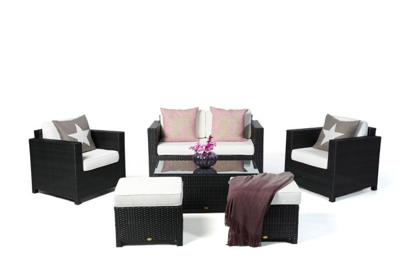 Gartenmöbel Lounge Bona Dea Schwarz