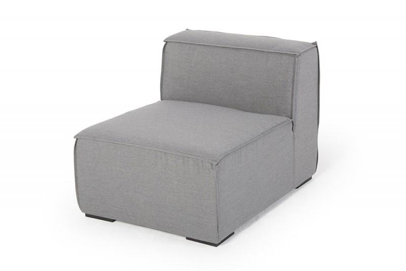 outdoor lounge allwetter lounge loungem bel f r draussen mittelteil grau. Black Bedroom Furniture Sets. Home Design Ideas