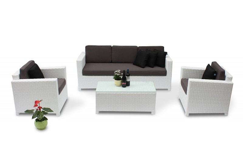 rattanm bel die rattan lounge bona dea in weiss verspr ht. Black Bedroom Furniture Sets. Home Design Ideas