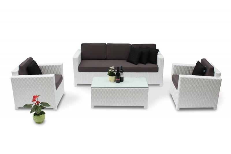 rattanm bel die rattan lounge bona dea in weiss verspr ht freude und gute laune im garten. Black Bedroom Furniture Sets. Home Design Ideas
