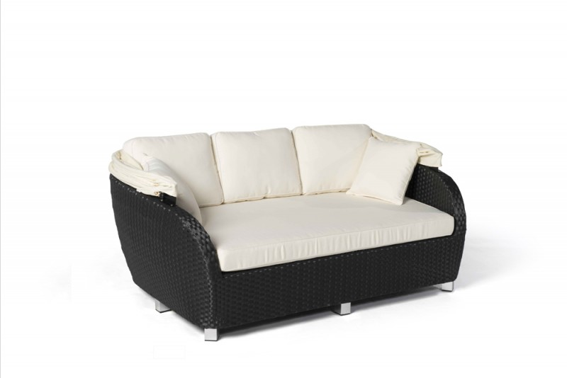 rattan liege sonnenliege malibu schwarz gartenm bel rattanm bel. Black Bedroom Furniture Sets. Home Design Ideas