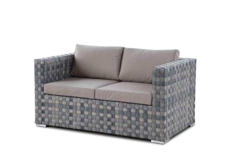 Moskito Rattan Gartenmöbel Lounge Sofa Graubraun