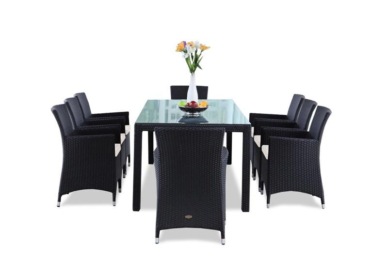 gartenm bel gartenmobiliar gartentische rattan tisch gartenst hle montreal 180cm. Black Bedroom Furniture Sets. Home Design Ideas