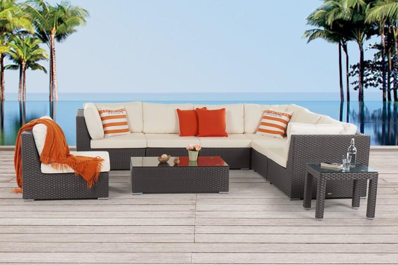 Rattan lounge schwarz  Rattan Gartenmöbel - Gartenmobiliar - Gartentische - Gartenstühle ...