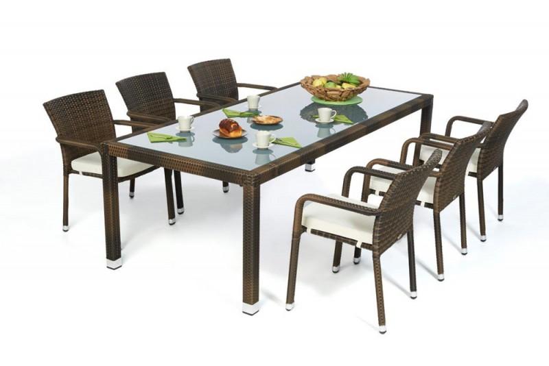 gartenm bel gartenmobiliar gartentische gartenst hle esstisch rattan tisch toronto. Black Bedroom Furniture Sets. Home Design Ideas