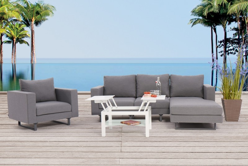 outdoor garten lounge seven deluxe wetterfeste sitzm bel. Black Bedroom Furniture Sets. Home Design Ideas
