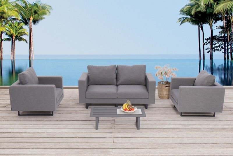 textile outdoor lounge shanti in grau allwetterfeste loungem bel set 39 s f r ihre gartenterrasse. Black Bedroom Furniture Sets. Home Design Ideas