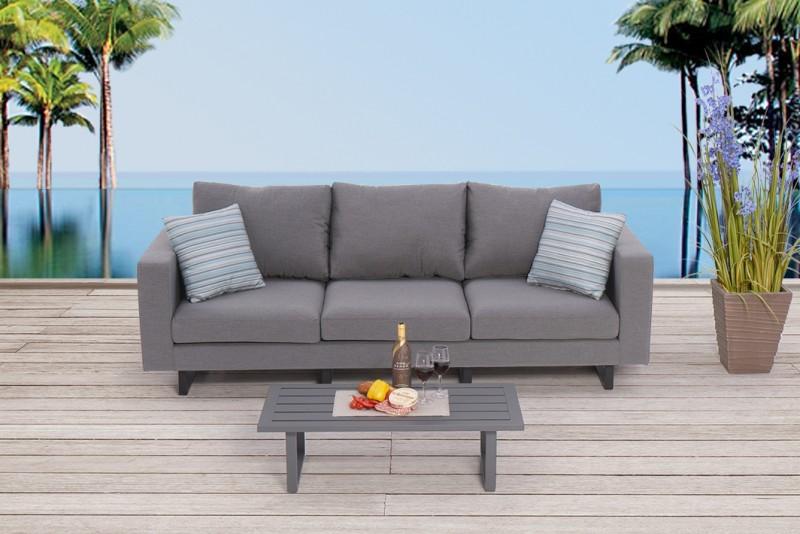 Outdoor Lounge Surya Wetterfeste Sitzpolster Hochwertig Und Bequem