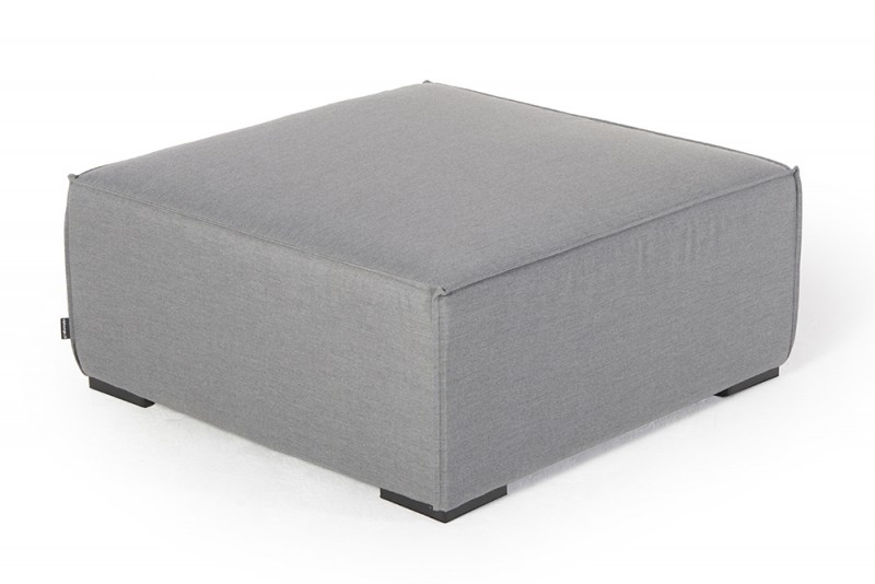 outdoor lounge allwetter lounge loungem bel f r draussen fusshocker gross grau. Black Bedroom Furniture Sets. Home Design Ideas