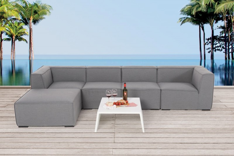 outdoor lounge allwetter lounge loungem bel f r draussen mia grau. Black Bedroom Furniture Sets. Home Design Ideas
