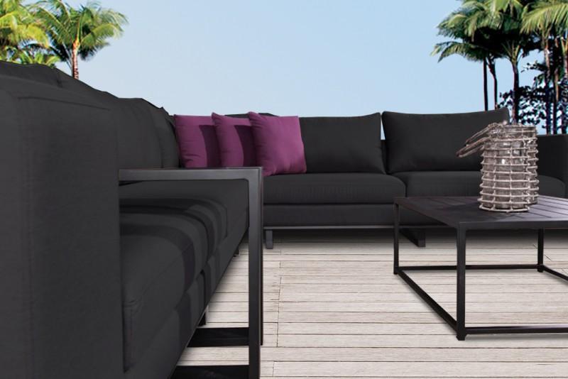 allwetter loungem bel outdoorm bel outdoor lounge silver anthrazit outdoor gartenlounge. Black Bedroom Furniture Sets. Home Design Ideas