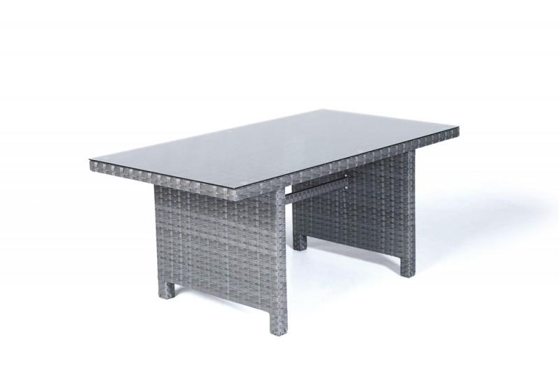gartenm bel gartentische gartenst hle rattan tisch darling 150cm mix grau. Black Bedroom Furniture Sets. Home Design Ideas