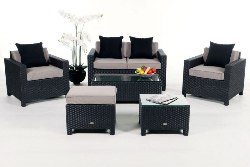 gartenm bel gartenmobiliar gartentische gartenst hle gartenliege lounge samba schwarz. Black Bedroom Furniture Sets. Home Design Ideas