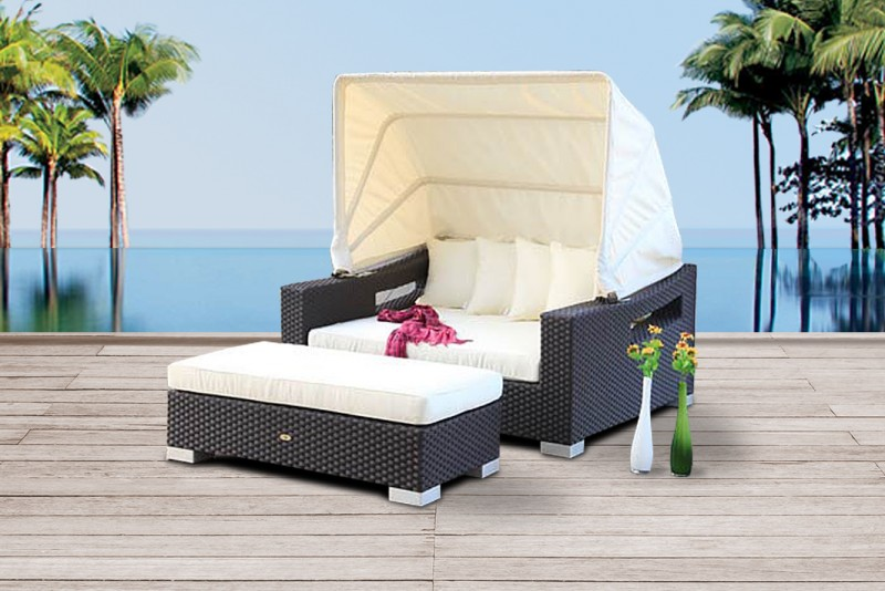 gartenm bel rattan gartentische gartenst hle sonnenliege capri chair schwarz. Black Bedroom Furniture Sets. Home Design Ideas
