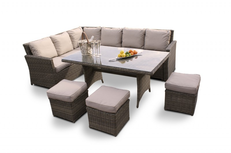 gartenmobel rattan lounge set. Black Bedroom Furniture Sets. Home Design Ideas