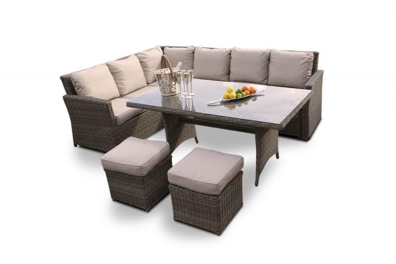 hochwertige rattan sitzgruppen f r balkon oder terasse. Black Bedroom Furniture Sets. Home Design Ideas