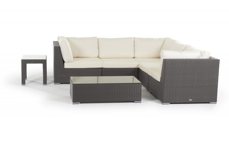Gartenmobel Polyrattan Grau Gunstig : Wioming Rattan Lounge braun Gartenmöbel  Gartenmobiliar