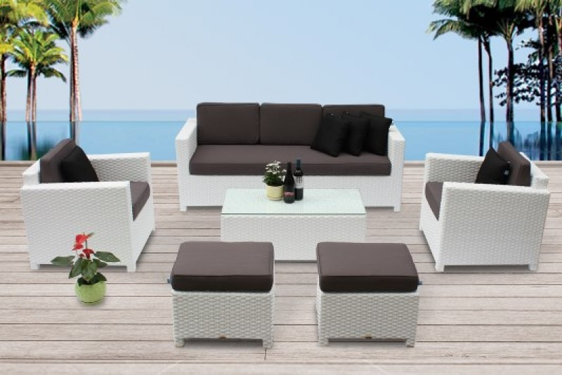 hochwertige rattan sitzgruppen f r balkon oder terrasse. Black Bedroom Furniture Sets. Home Design Ideas