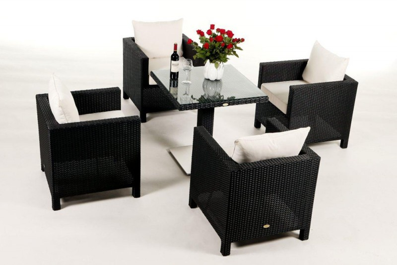 gartenm bel gartenmobiliar gartentische gartenst hle gartenstuhl sola dining schwarz. Black Bedroom Furniture Sets. Home Design Ideas