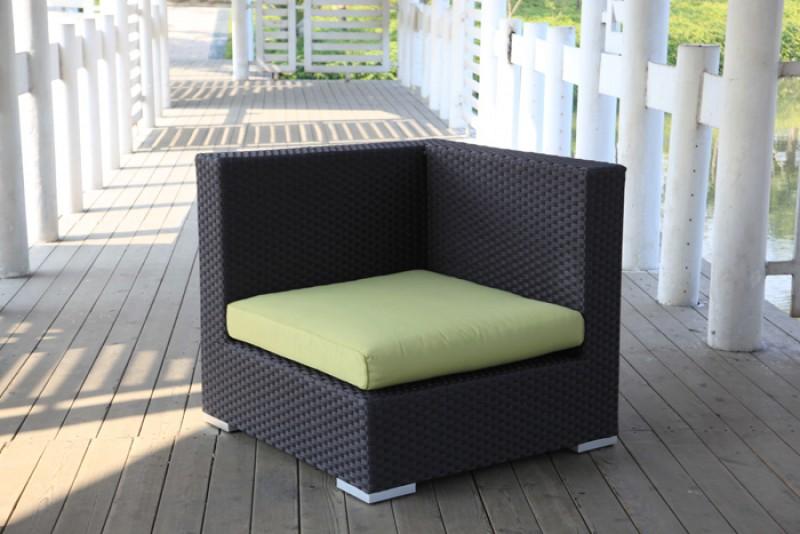 gartenm bel gartenmobiliar rattan lounge city berzug lime. Black Bedroom Furniture Sets. Home Design Ideas