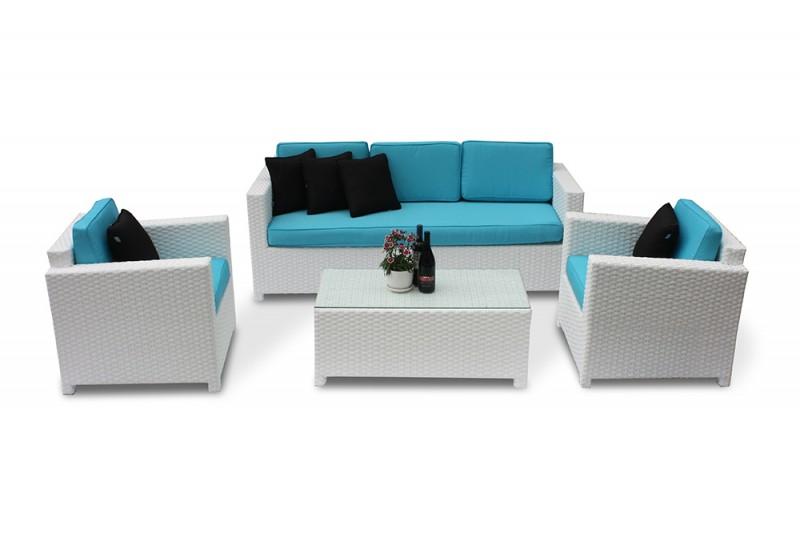 Rattan Lounge Gartenmöbel-Zubehör: Bona Dea 3er Lounge - Überzugsset ...
