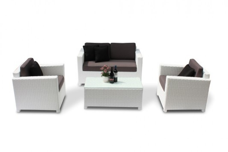 rattanm bel rattan lounge bona weiss sch ne rattan gartenm bel. Black Bedroom Furniture Sets. Home Design Ideas