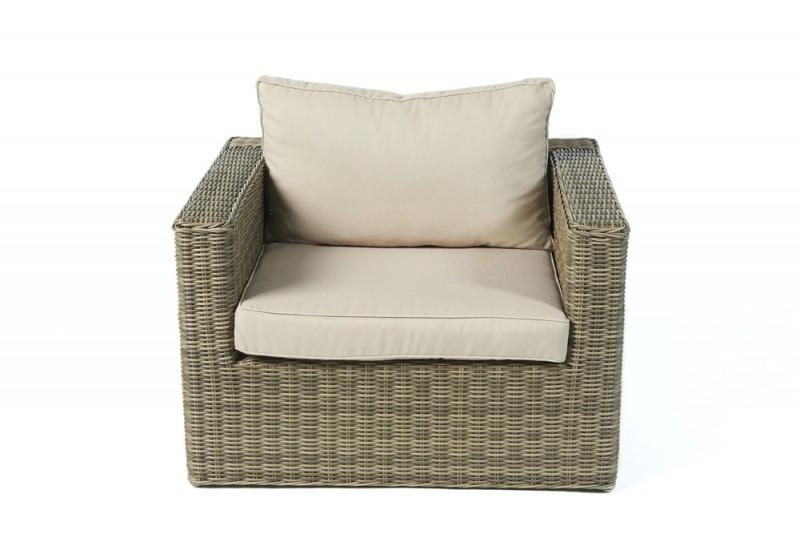 Gartenmöbel Princeton Lounge Sessel Natural Round