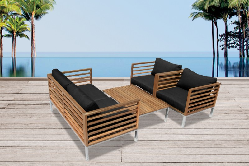 holz gartenm bel lounge sessel stuhl tisch bank. Black Bedroom Furniture Sets. Home Design Ideas