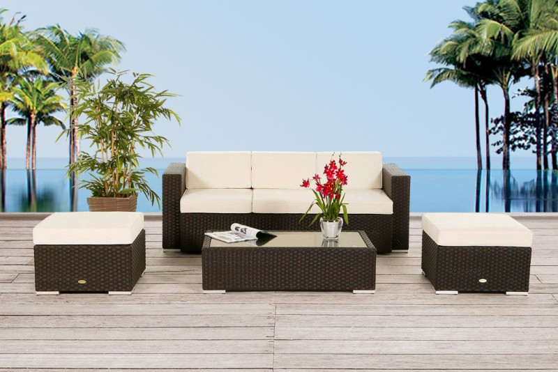 Barclay Gartenmöbel Lounge Braun