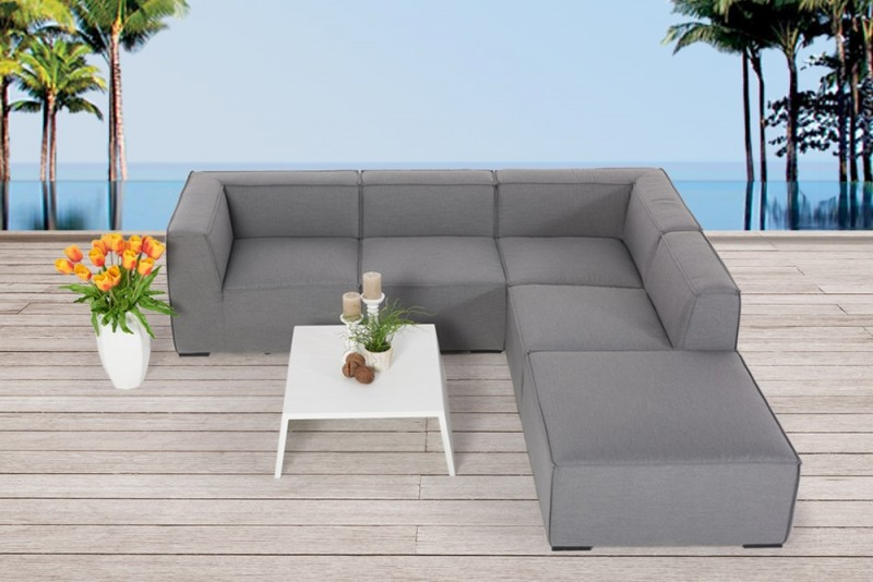 outdoor lounge rosalie outdoorm bel grau. Black Bedroom Furniture Sets. Home Design Ideas
