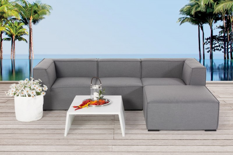 Gartenmöbel - Gartenlounge - Outdoor Lounge - Roxy - loungemöbel - grau