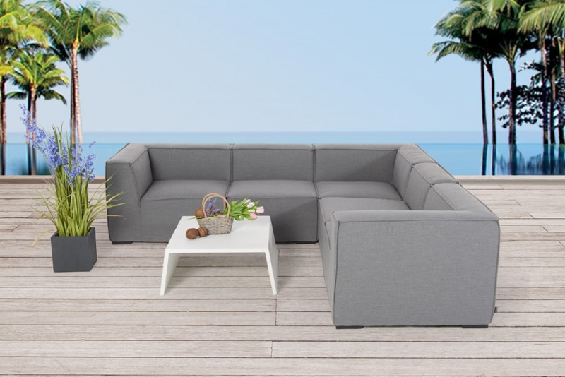 gartenm bel gartenlounge outdoor lounge elvira m bel grau. Black Bedroom Furniture Sets. Home Design Ideas
