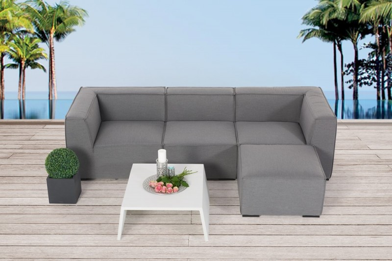 gartenm bel gartenlounge outdoor lounge laurie m bel grau. Black Bedroom Furniture Sets. Home Design Ideas