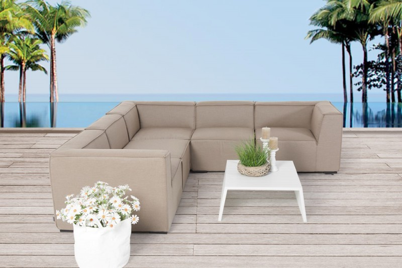 gartenm bel gartenlounge outdoor lounge elvira m bel sandbraun. Black Bedroom Furniture Sets. Home Design Ideas