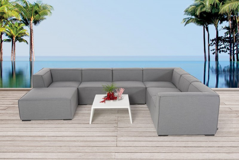allwetter gartenlounge outdoor lounge amy sitzm bel grau. Black Bedroom Furniture Sets. Home Design Ideas