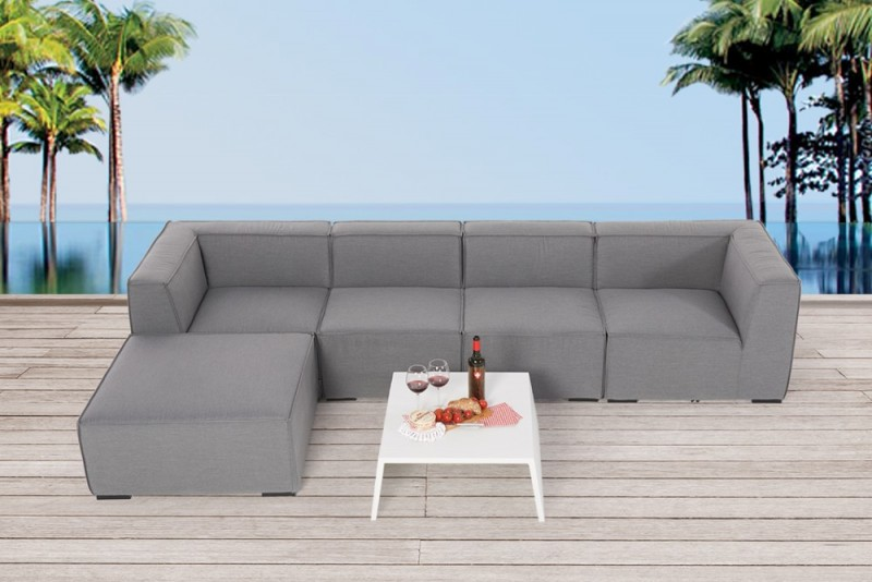 outdoor lounge allwetter lounge loungem bel f r draussen mia grau. Black Bedroom Furniture Sets. Home Design Ideas