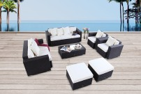 gartenm bel gartenmobiliar gartentische gartenst hle loungem bel melbourne braun. Black Bedroom Furniture Sets. Home Design Ideas