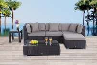 edle loungem bel f r garten oder balkon in schwarz. Black Bedroom Furniture Sets. Home Design Ideas