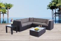Buffalo Gartenmöbel Rattan Lounge Braun
