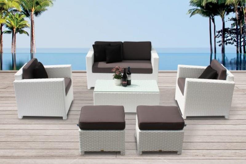 Rattan garden furniture - Bona Dea Rattan Lounge - white