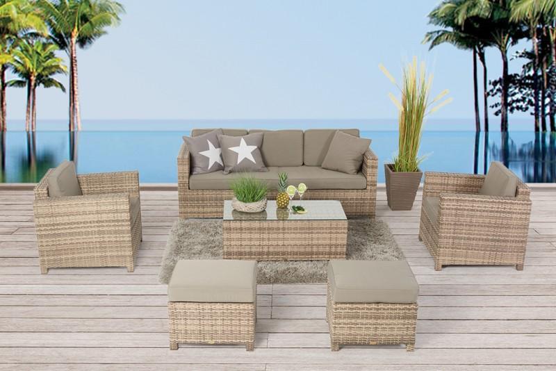 Charmant Gartenmöbel Lounge Bona Dea Deluxe 3er Natural