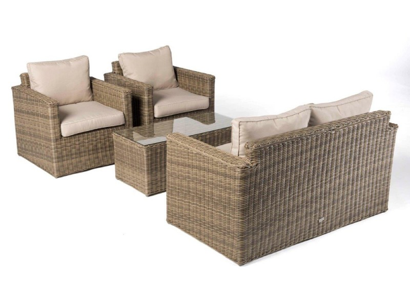 gartenmoebel rattan lounge. Black Bedroom Furniture Sets. Home Design Ideas