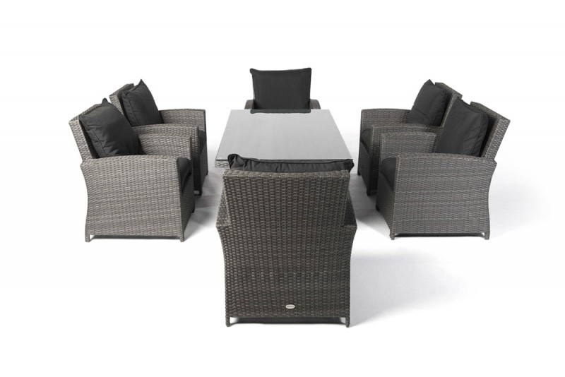 Interesting Oklahoma Rattan Armchair Mixed Grey With Rattan Lounge Set Grau  With Lounge Set Grau