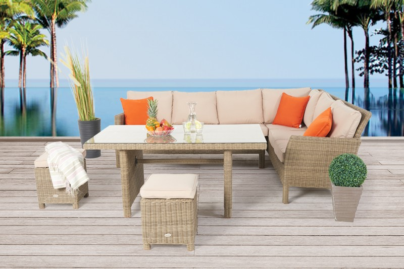 Gut Darling Rattan Lounge Dining Natural Round
