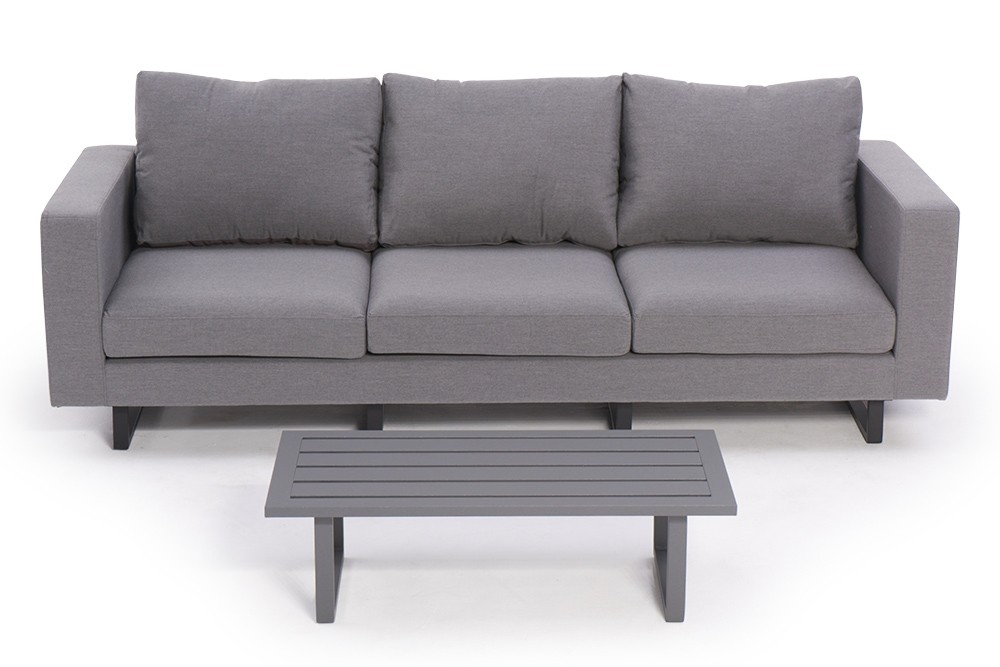 All Weather Lounge Sunbrella Fabric Outdoor Sofa Surya Grey