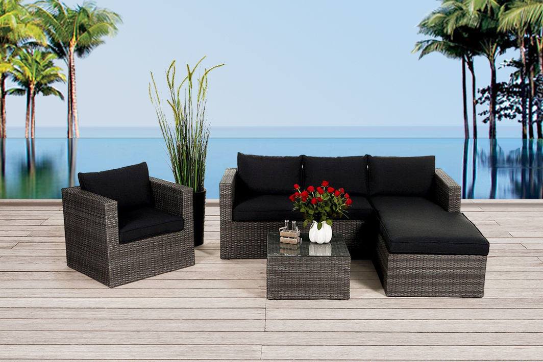 gartenm bel rattanm bel rattan lounge online kaufen. Black Bedroom Furniture Sets. Home Design Ideas